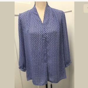 Laundry by Shelli Segal Women's Geometric Blouse M